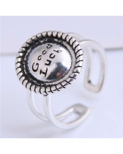 Vintage Style Open-end Copper Lucky Ring