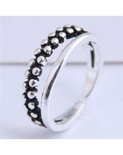 Studs Fashion Dual Layers Design Open-end Copper Ring