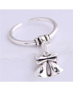 Bell Pendant Vintage Design Women Copper Ring