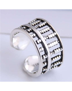 Abacus Design Open-end Bold Vintage Fashion Women Copper Ring