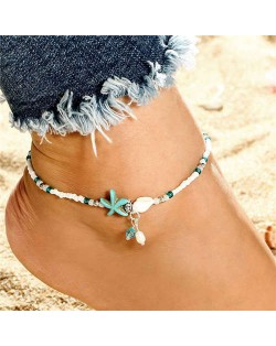 Seashell and Starfish Pendants Ocean Fashion Women Anklet