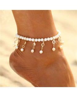 Pearl Fashion Tassel Design Unique Women Anklet