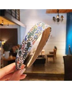 Pastoral Style Summer Flowers Prints Korean Fashion Women Cloth Hair Hoop