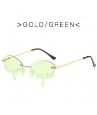 10 Colors Available Tearing Design Internet Celebrity Funny Style High Fashion Women Sunglasses
