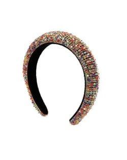 Baroque Style Rhinestone All-over Shining Design Women Headband/ Hair Hoop - Multicolor