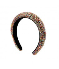 Baroque Style Rhinestone All-over Shining Design Women Headband/ Hair Hoop - Multicolor