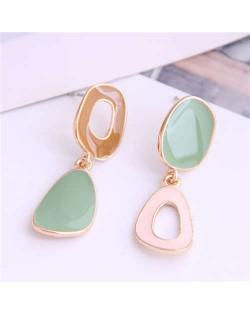 Irregular Hoop Design Korean Fashion Enamel Women Earrings