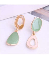Irregular Hoop Design Korean Fashion Enamel Women Earrings