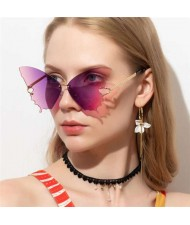 5 Colors Available Butterfly Design Frameless Creative Fashion Women Sunglasses