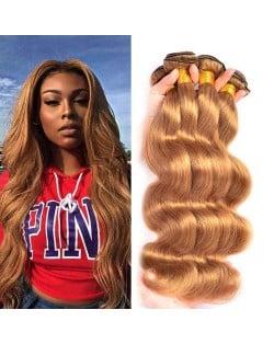 Body Wave Color 27 Brazilian Virgin Remy Hair 1 Piece Human Hair Bundle
