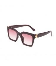 5 Colors Available Golden Arrow Decoration Vintage Frame Women Cool Fashion Sunglasses