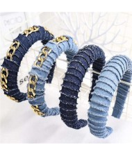 Denim High Fashion Design Women Headband/ Hair Hoop