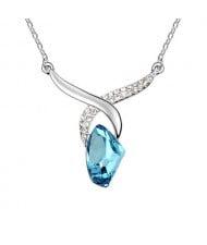 Sagittarius Theme Blue Crystal Pendant Necklace
