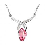 Sagittarius Theme Rose Crystal Pendant Necklace