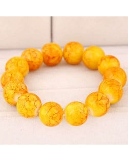 High Fashion Glass Beads Simple Style Bracelet - Yellow