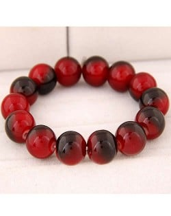 High Fashion Glass Beads Simple Style Bracelet - Red