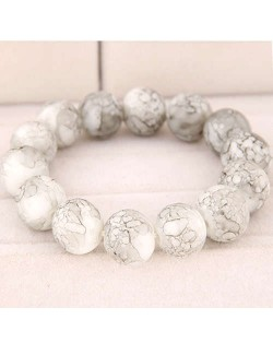 High Fashion Glass Beads Simple Style Bracelet - White