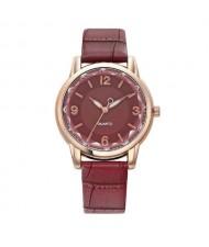 8 Colors Available Creative Gradient Color Arabic Numerals Index Fashion Design Women Wrist Watch