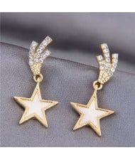 Korean Fashion Lucky Star Golden Style Women Stud Earrings