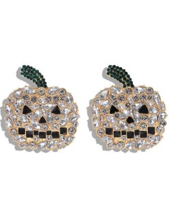 Shining Pumpkin Design Creative Design High Fashion Women Earrings - White
