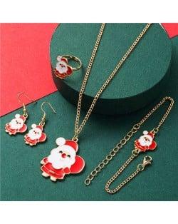 Santa Claus Design Christmas Fashion Costume Alloy Jewelry Set