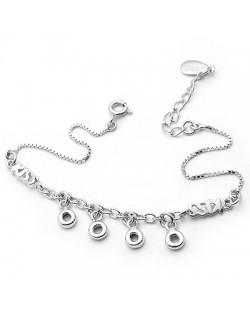 Elegant Kiss Style 925 Sterling Silver Bracelet