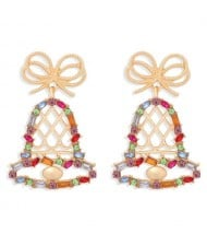 Colorful Christmas Bell Design U.S. High Fashion Women Alloy Wholesale Earrings