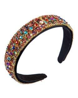 Colorful Rhinestone Embellished Baroque Style High Fashion Wholesale Women Headband