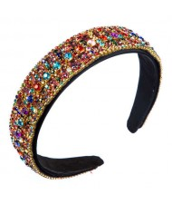 Colorful Rhinestone Embellished Baroque Style High Fashion Wholesale Women Headband
