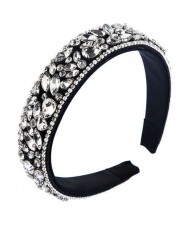 Assorted Rhinestone Embellished U.S. High Fashion Women Wholesale Hair Hoop/ Headband - White
