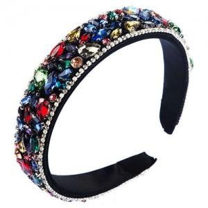 Assorted Rhinestone Embellished U.S. High Fashion Women Wholesale Hair Hoop/ Headband - Multicolor