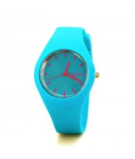 Candy Color Silicone Strap Sport Fashion Women Wrist Watch