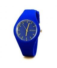 Candy Color Silicone Strap Sport Fashion Women Wrist Watch
