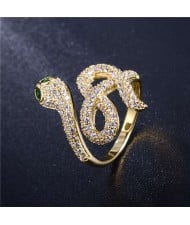 Creative Snake Design 18K Rose Gold Plated Women Ring