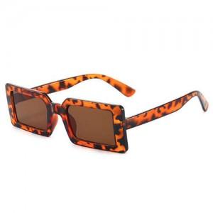 Candy Color Oblong Frame U.S. High Fashion Women Sunglasses