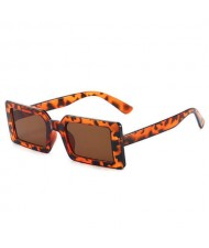 Candy Color Oblong Frame U.S. High Fashion Women Sunglasses