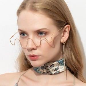 Wave Style U.S. High Fashion Decorative Sunglasses Frame (No Lens)