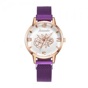 8 Colors Available Romantic Roses Index U.S. High Fashion Design Women Wrist Watch