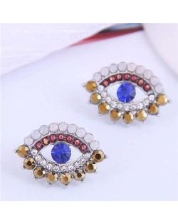 Blue Eye Design Unique Korean Fashion Women Costume Earrings