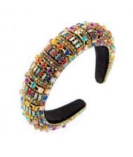 Baroque Maximum Bejeweled High Fashion Women Headband - Multicolor
