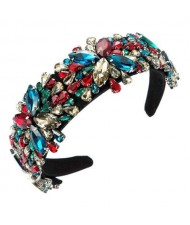 Maximum Shining Effect Glass Drill Flowers U.S. High Fashion Women Headband - Multicolor