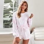 U.S. Fashion Dyed Printing Women Homewear/ Pajamas Suit - Pink