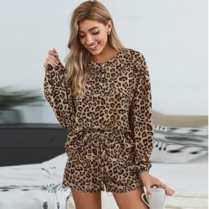 U.S. Fashion Dyed Printing Women Homewear/ Pajamas Suit - Leopard Prints