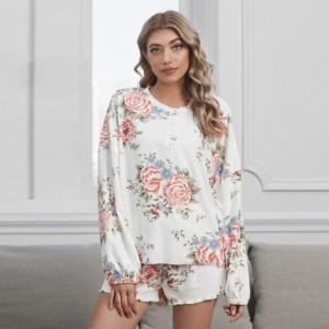 U.S. Fashion Dyed Printing Women Homewear/ Pajamas Suit - Peony
