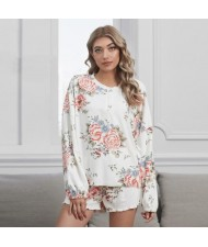 U.S. Fashion Dyed Printing Women Homewear/ Pajamas Suit - Peony