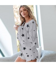 U.S. Fashion Dyed Printing Women Homewear/ Pajamas Suit - Stars