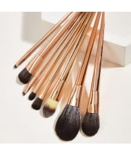 8 pcs Rose Gold Handle Women Makeup Brushes Set