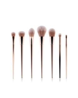 7 pcs Champagne Gold Handle High Fashion Women Makeup Brushes Set