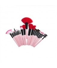 24 pcs Pink Wooden Handle Women Powder Brush/ Makeup Brushes Set