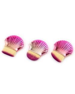 3 pcs Seashell Design High Fashion Women Powder Brush/ Makeup Brushes Set - Pink